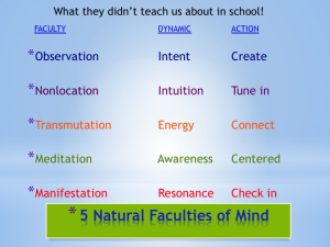 5 Natural Faculties of Mind - Dianne Collins - QuantumThink